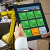 Linx Printernet used on tablet within a manufacturing environment