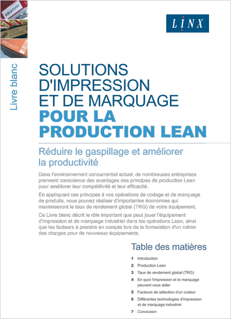 Solutions d'impression et de marquage pour la production Lean